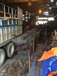 xưởng cán thép vuông